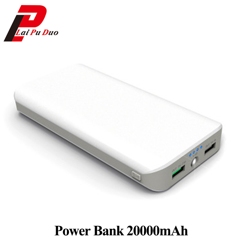 Power Bank two way Fast Charger 20000mAh Support QC3.0 Dual USB with LED light mobile power for Mobile Phones/PSP/Mackbook