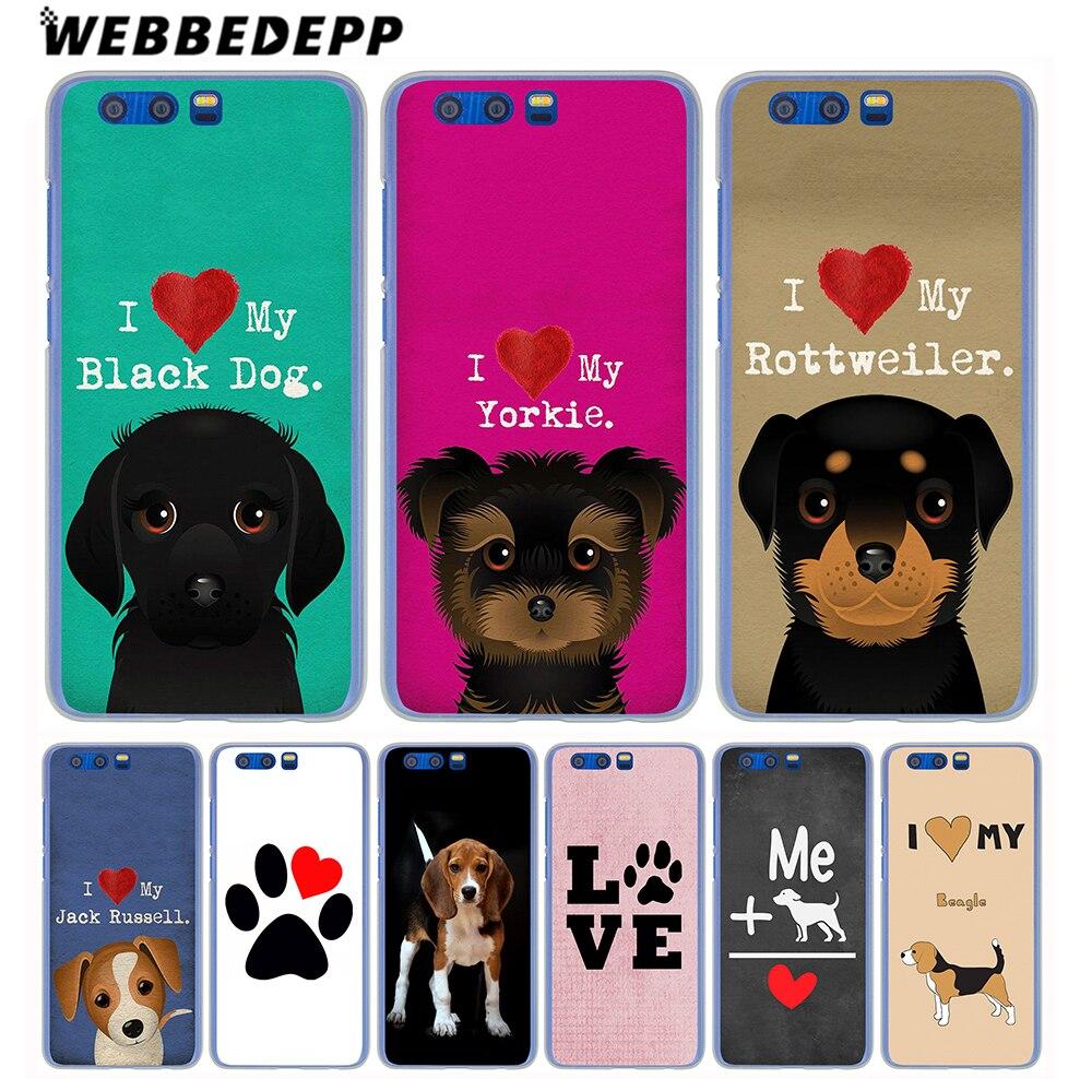 Webbedepp я люблю свою Бигль собак Жесткий Чехол для Huawei Honor 9 8 Lite 7 6 x 6A 6C y6 Y5 Y3 II Y7 2017 ...