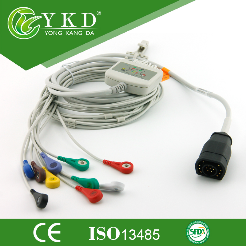 Здесь можно купить   Free Shipping Zoll 15Pin ECG EKG Cable with 10 leadwires for M series and E series, AHA/ Snap Красота и здоровье
