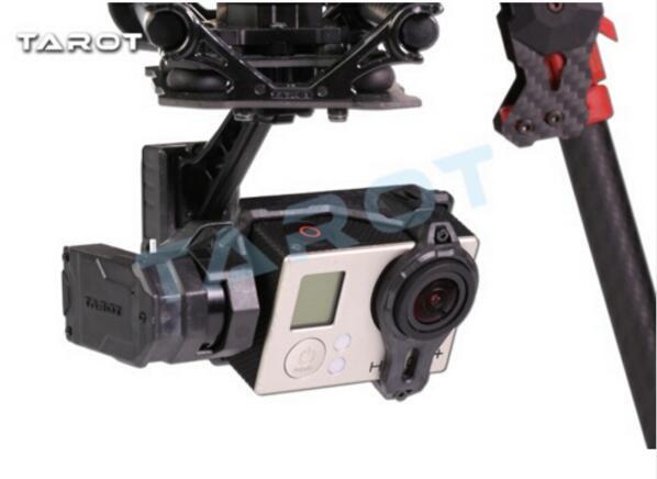 tarot T4-3D Shock-Absorber Gimbal For Gopro Hero4/3+/3 Double Shock Absorber Gimbal TL3D02 аксессуары для видеокамеры gopro hero4 3 3