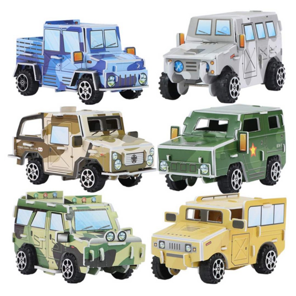 3D   Jeep  Paper Stereoscopic Model DIY Puzzle  Kids Learn Growth Game Puzzles A Gift For A Child