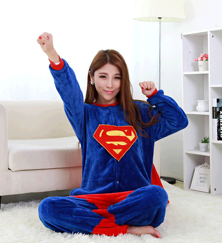 Adulți Onesie Superman Pijamale Superhero Pijamale Unisex Capitan - Costume carnaval