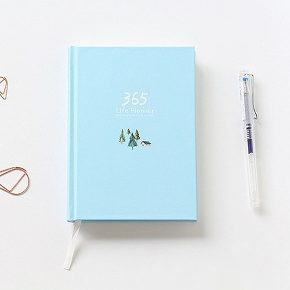 365 Days Personal Diary Planner Hardcover Notebook Diary Memos travelers journal agenda sketchbook Cute School Office Stationery 365 days personal diary planner