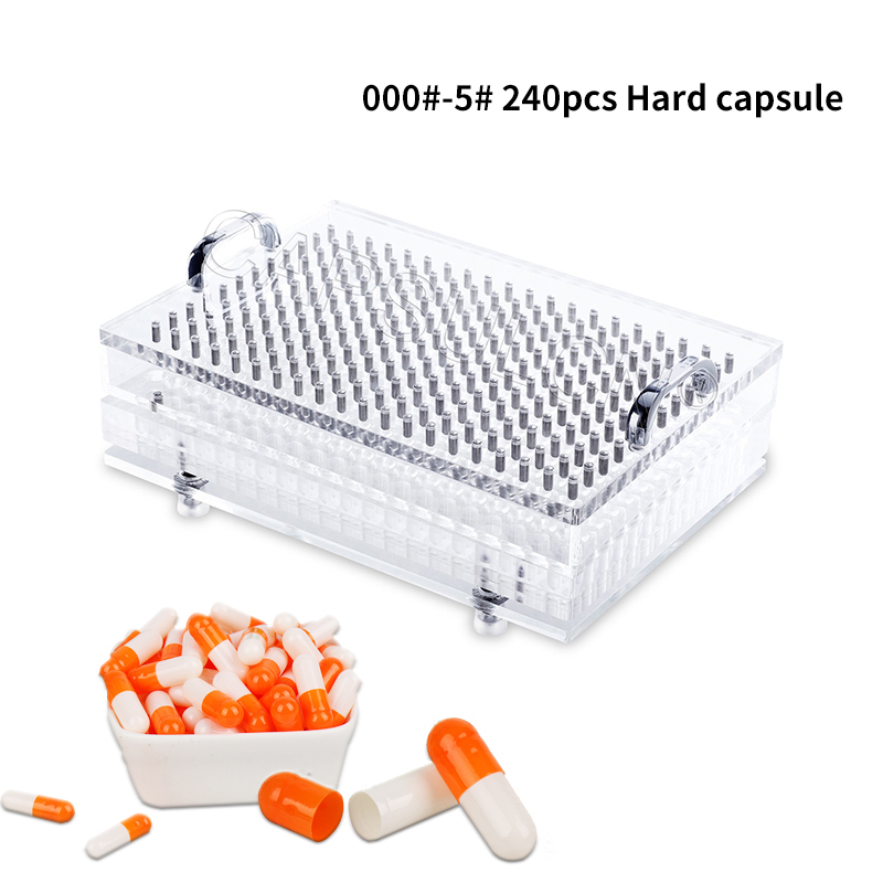 000#-5#240 Hole Capsule Filling Plate / Filling Capsule / Equipment Manual Capsule Filling Manual Packaging Machine