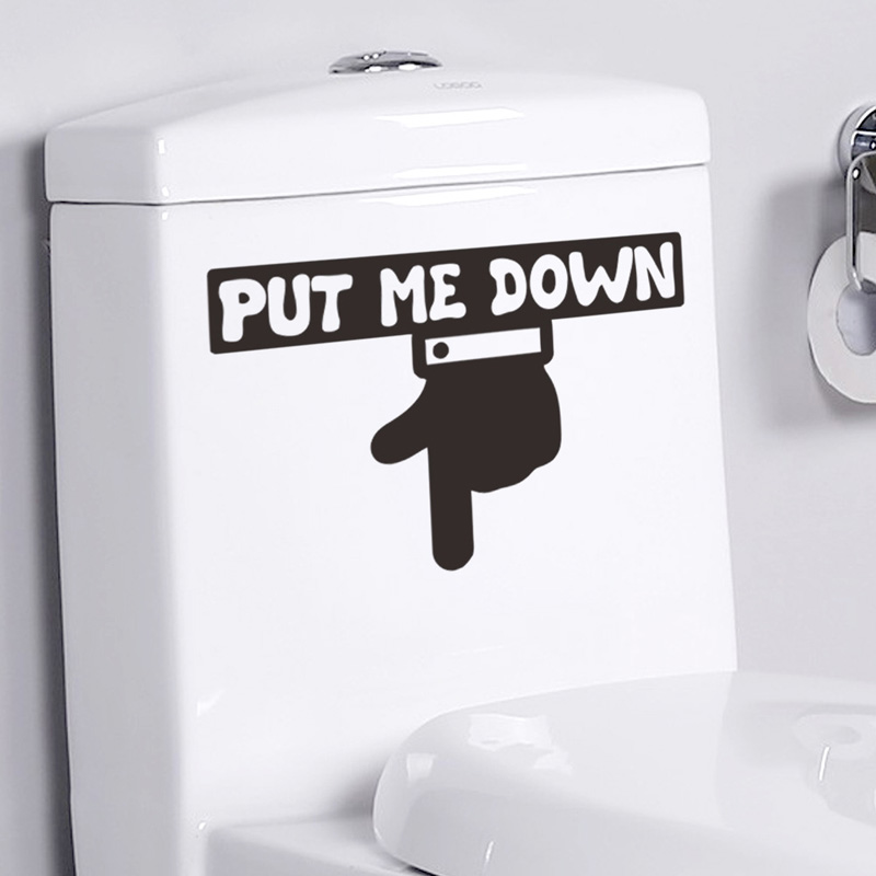 Creative PUT ME DOWN Toilet/switch Stickers For Bathroom Home Decoration Vinyl Art Decals Funny Waterproof Mural Wall Sticker