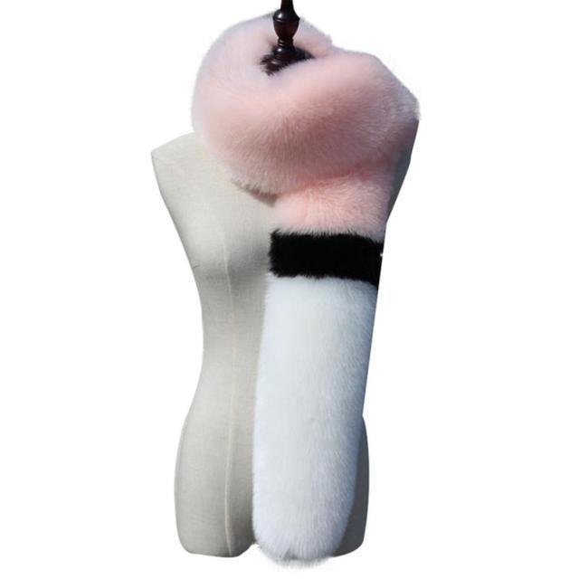 Новые Моды для Женщин Дамы Шарф Лоскутное Супер Мягкий Искусственный Мех Муфта Руки Зима Теплее Вызов Po Перчатки