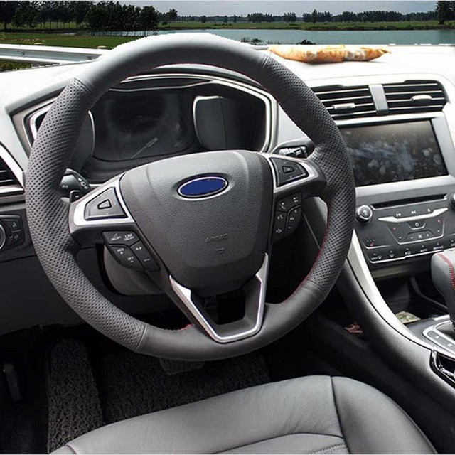 Hand Sched Genuine Length Cover On The Steering Wheel Car Covers For Ford Fusion Mondeo 2017