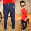 high quality fashion children jeans for boys thick warm pants winter denim trousers 5-12 year