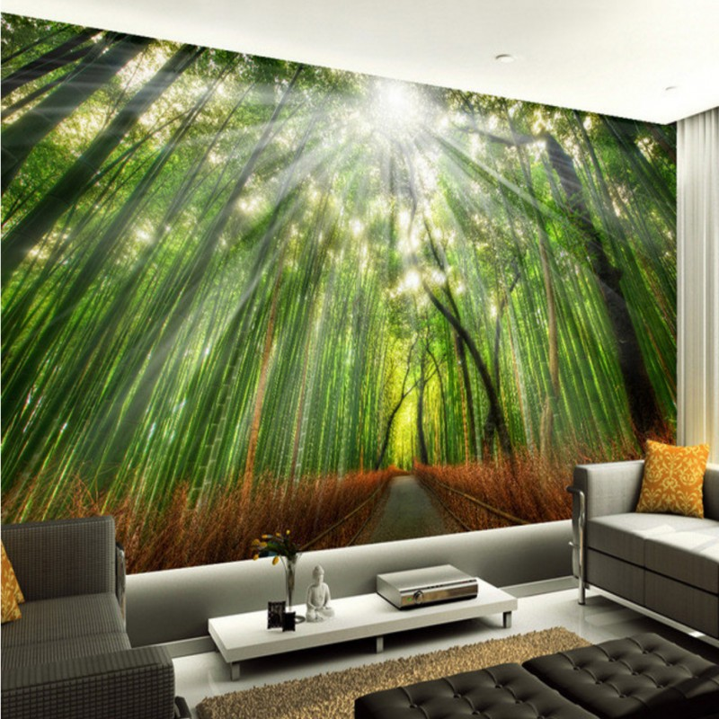 Custom Photo Wallpaper Bamboo Grove 3D Wall Paintings Background Mural Living Room Bedroom Home Decoration In Wallpapers From