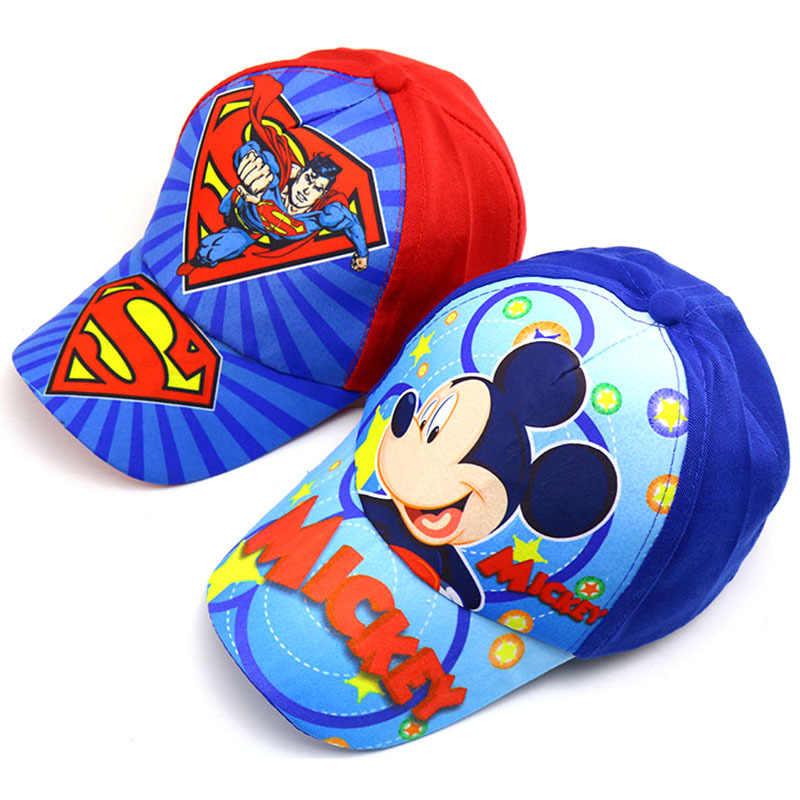 Captain America Hat Avengers Baseball Hat Cartoon Mouse Snapback Baseball Cap Kids Popular Hero Hat Baby Boy Casual Shade Hats