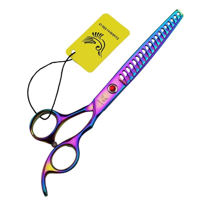 Professional hair scissors Thinning scissors 7 INCH 440C 19 Teeth Simple Pet Scissors Pet Clipper dog