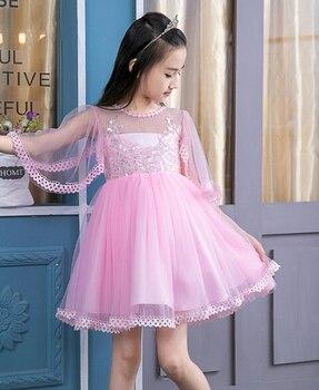 7087y Новый Обувь для девочек летнее платье Милая Одежда для девочек модный стиль платье для маленькой принцессы Одежда для маленьких девочек