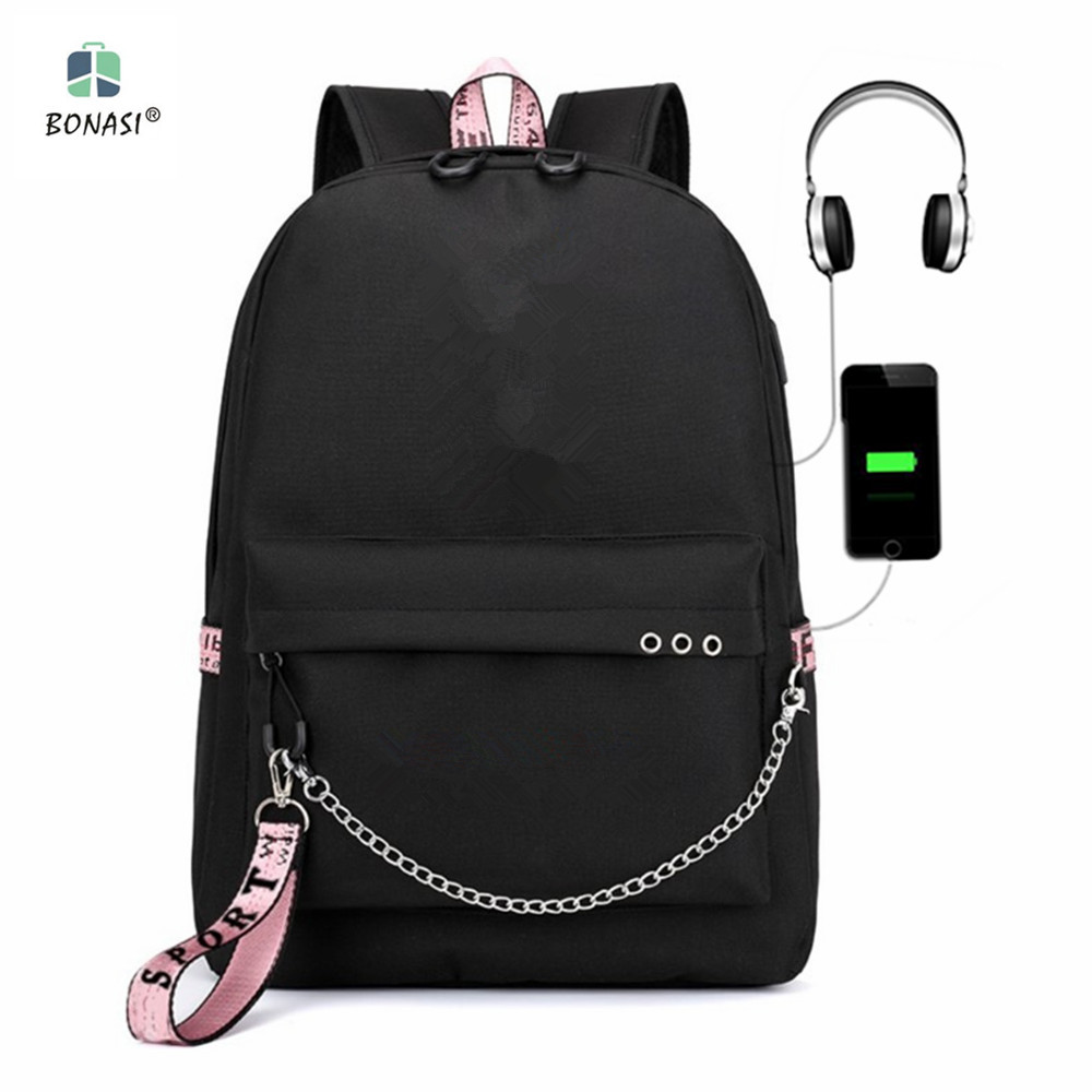 2019 NEW USB charging bag KPOP V J HOPE JUNG KOOK Backpack boys&Girls Fashion for fans Bags Harajuku Rucksacks Mochila