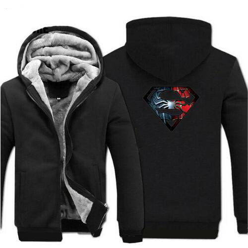 Super Polaire Grey blue 2018 Manteau Hop Zippée Hiver Hip Épais À Shirts Hommes Hero Streetwear Superman red Hoodies Capuche Marque Chaud black Mens De rqx8rXnp