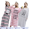 Primavera e verão outono mulheres nightgrow sleepwear feminina plus size solta maternidade projeto longo