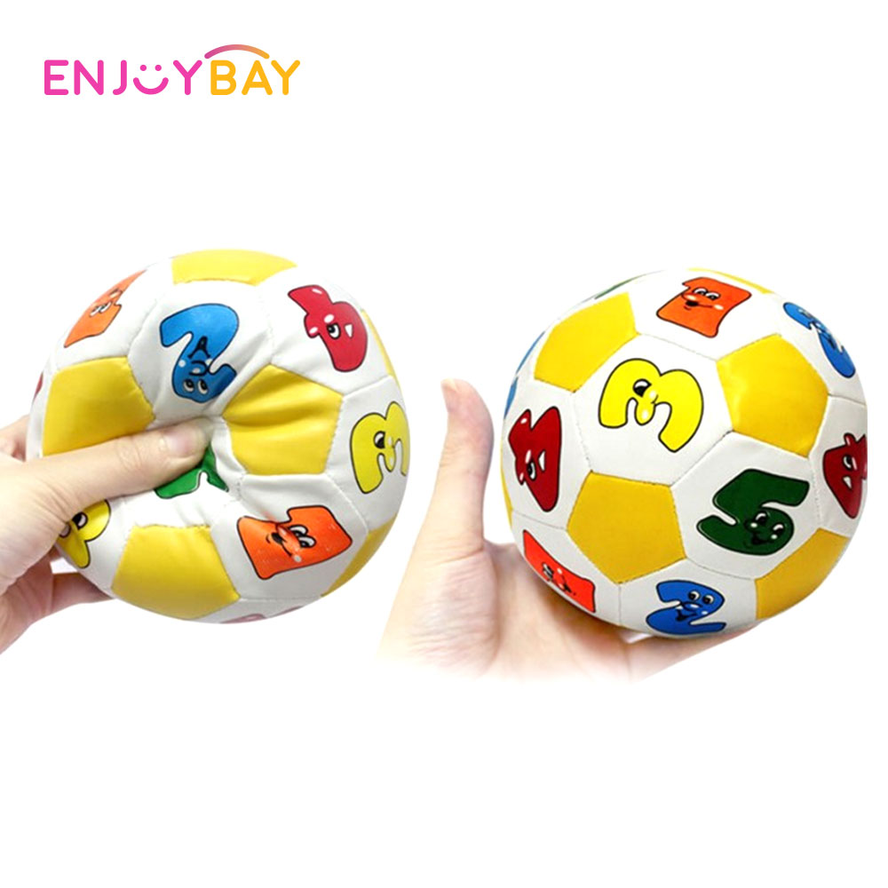 Baby Toy Ball Cartoon Football/Soccer With Bell Rattle Alphabet Number Learning Develop Intelligence Kids Early Education Toys