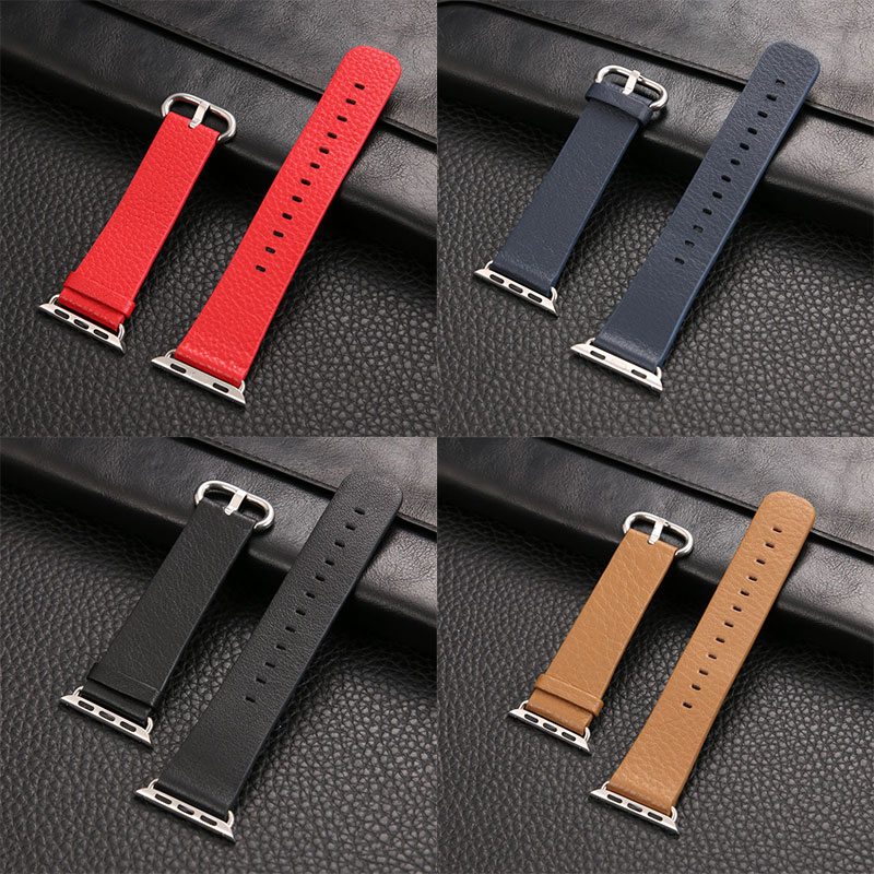 wrist Band for Apple Watch genuine leather loop 38mm 42mm for iwatch Strap link Bracelet women straps genuine leather classic buckle watch straps wrist band for apple watch 42mm red