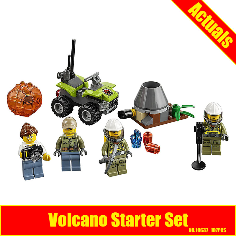 Bevle 10637 Bela City Series Volcano Starter Set Geological Prospecting Building Block Bricks Toys Gift For Children 60120