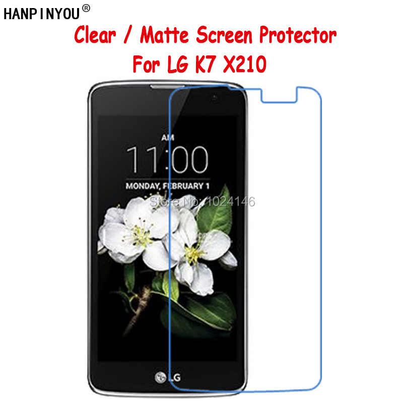 New HD Clear / Anti-Glare Soft Matte Screen Protector For LG K7 X210 X210DS 5.0