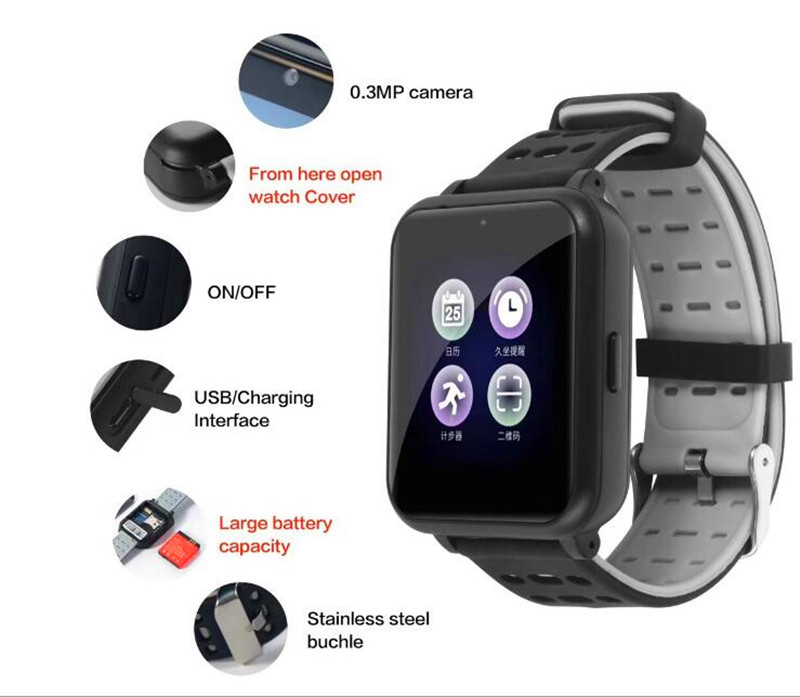 Z2 Smart Watch With Camera SIM TF Card For Apple Watch Men Women Android Wristwatch Smart Electronics Smartwatch PK Y1 GT08 U8