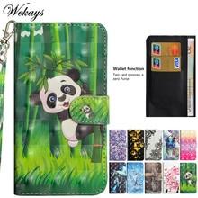 Wekays Cover For Huawei Y3 2018 Cute Cartoon Panda Leather Fundas Case For Huawei Y3 2017 CRO-L02 CRO-L22 Cover Cases Y 3 2017 демисезонные ботинки its own brand y88 y3 y 3