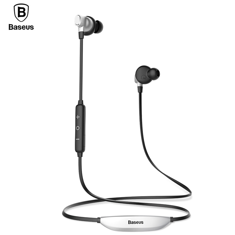 Baseus S03 Wireless Headphones Bluetooth Earphone Sport Stereo Magnet Headset Auriculares Earbuds Earpiece With Mic For Phone bluetooth headset wireless earphone for iphone android phone earpiece sport running stereo earbuds with microphone auriculares