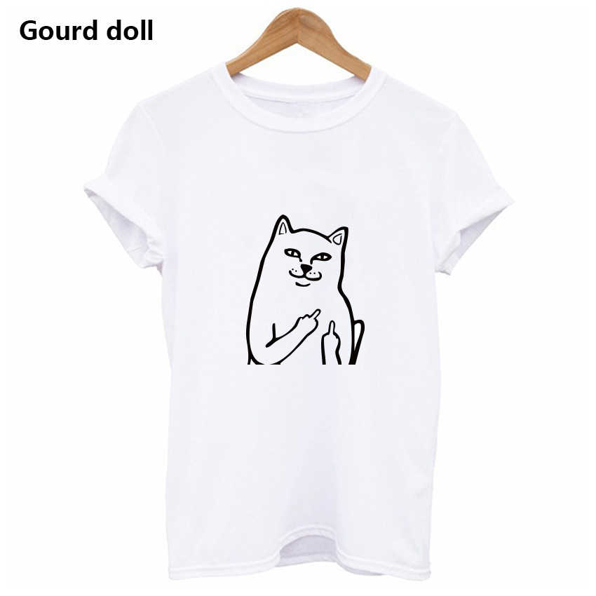ae43b2ab6258d Detail Feedback Questions about Harajuku Middle Finger Pocket Cat ...