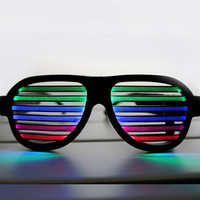 Sound Control Led Flashing Glasses Glow Sunglass Halloween Birthday Party Mask Bar Glasses LED Sound Activated