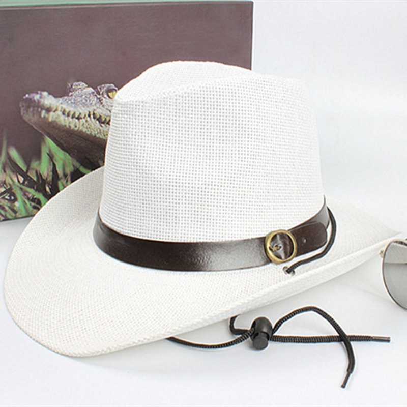 Women Summer Style Child sunhat Beach Men <font><b>Hat</b></font> Straw men\'s <font><b>cowboy</b></font> <font><b>hats</b></font> cap for men bucket <font><b>hats</b></font> with brim fedoras image