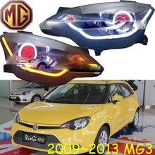 Auto stoßstange scheinwerfer MG3 scheinwerfer MG 2009 ~ 2013y LED DRL auto zubehör HID xenon MG3 front licht nebel