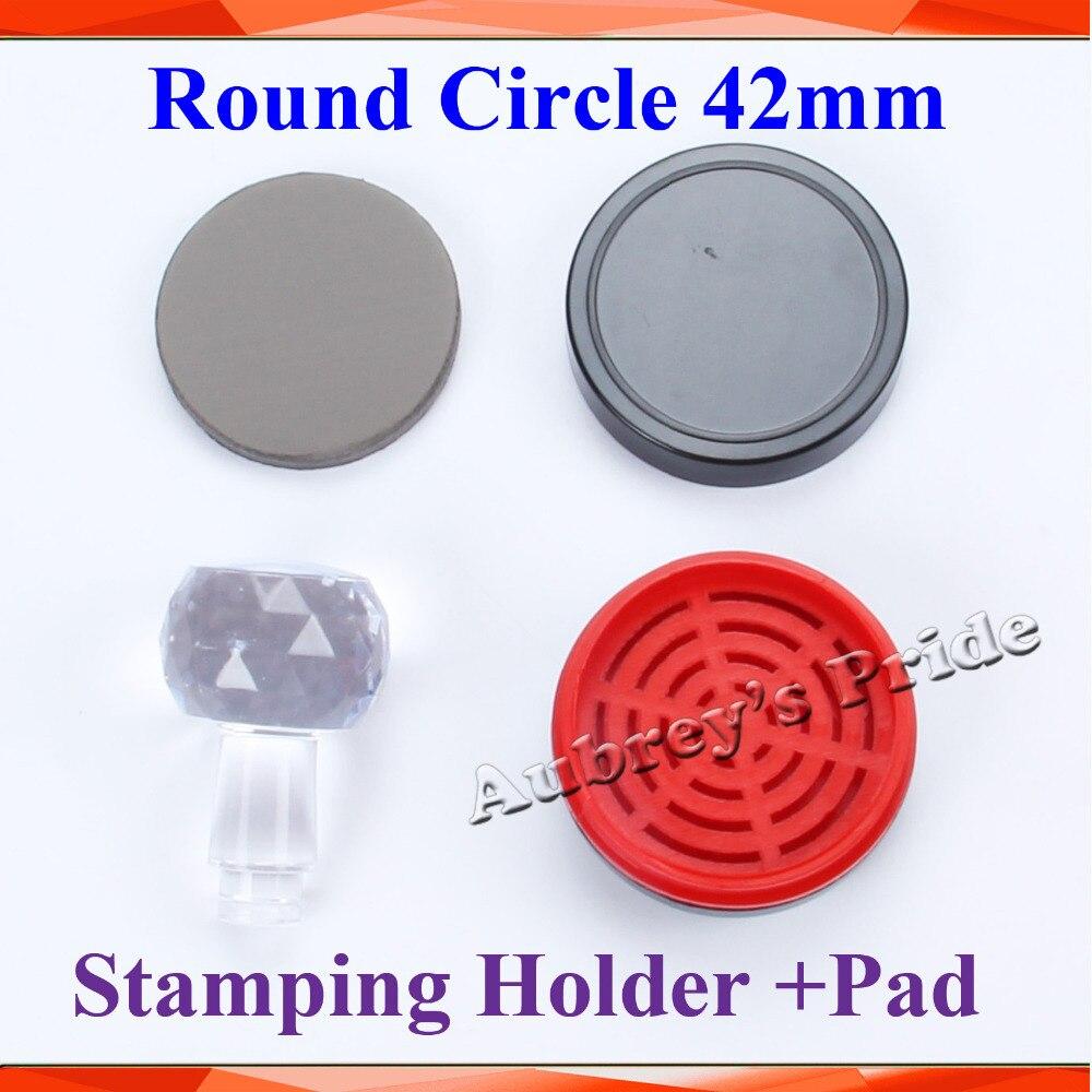 5pcs Round Circle Diameter 42mm Holder Rubber Pad Photosensitive Portrait Flash Stamp Machine