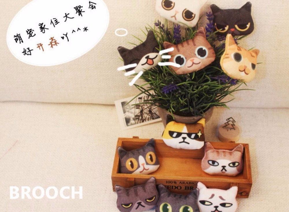 Timlee X096 Cartoon Cute Cat Kitty Dog Pet Soft Plush Metal Broche - Bisutería - foto 2