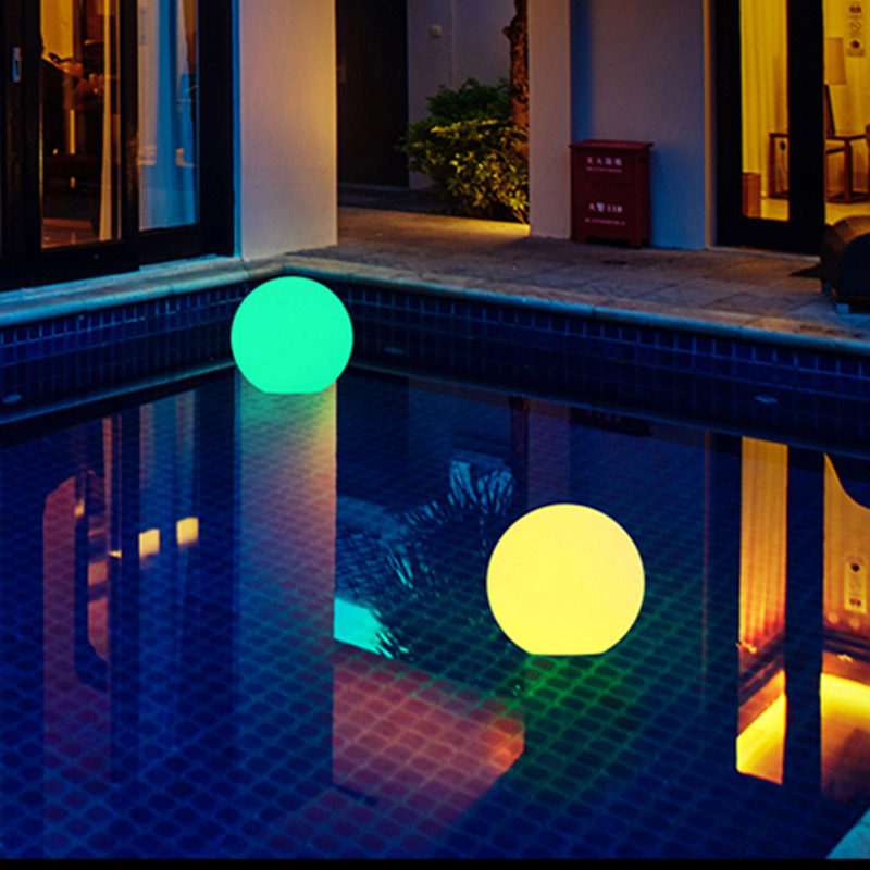 High Solar Power LED Ball Lamp Color Changing/Steady RGB Light Rechargeable Pool Garden Decor Light LG66