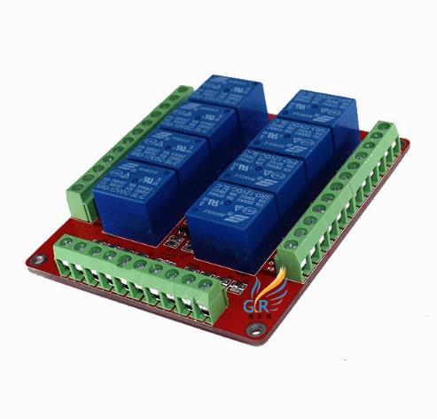 RM8LS/relay module/8-way relay module/low-level trigger/5V, 12V, 24V optional