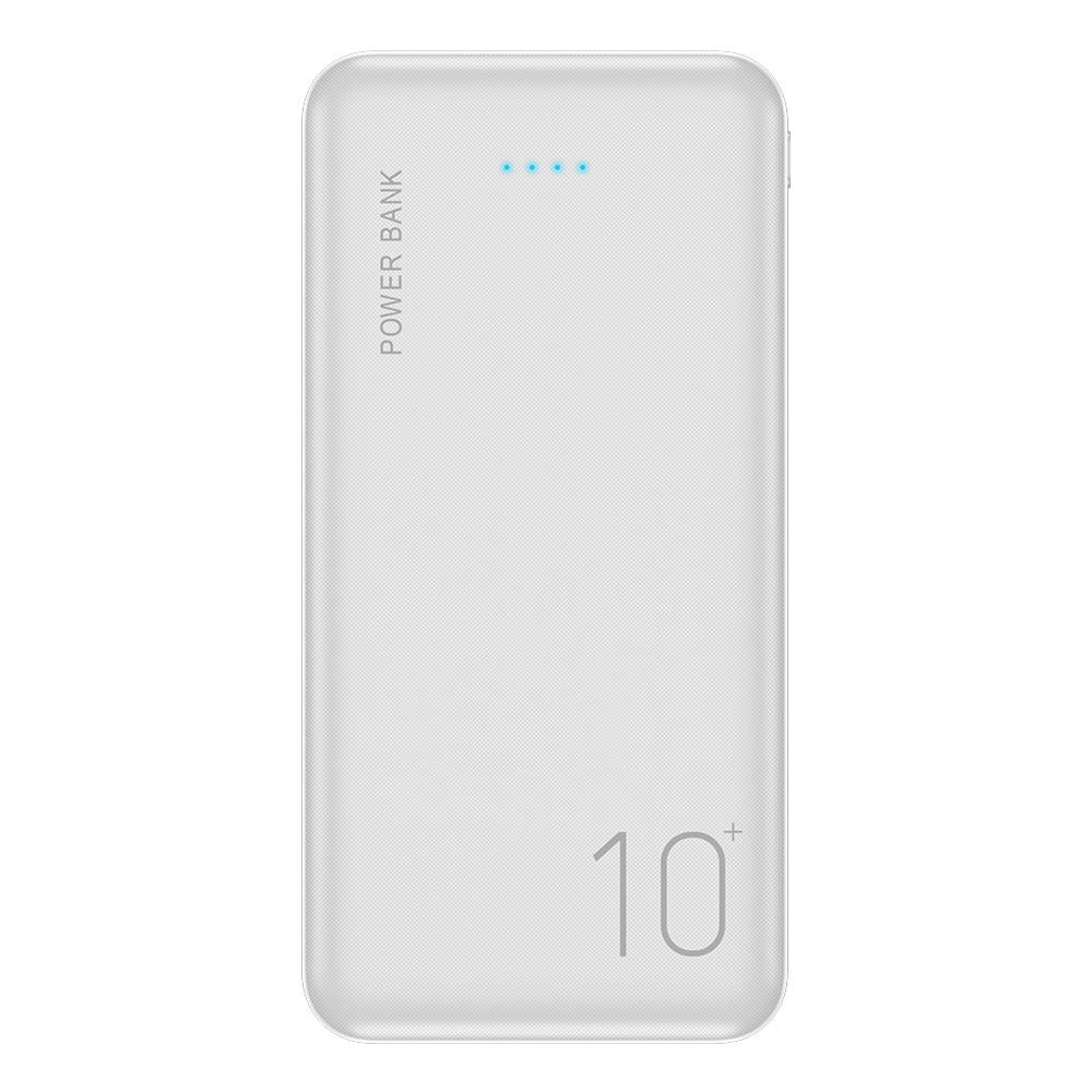 FLOVEME power Bank, 10000 мА/ч, портативное зарядное устройство для samsung Xiaomi Mi, мобильный внешний аккумулятор, power bank, 10000 мА/ч, повербанк, телефон - Цвет: White