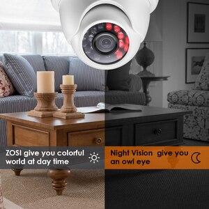 Image 5 - Zosi 1080p HD TVI 2.0mp cctv dome câmera, sistema de segurança para casa, visão noturna 65ft, à prova d água para 1080p HD TVI dvr sistemas
