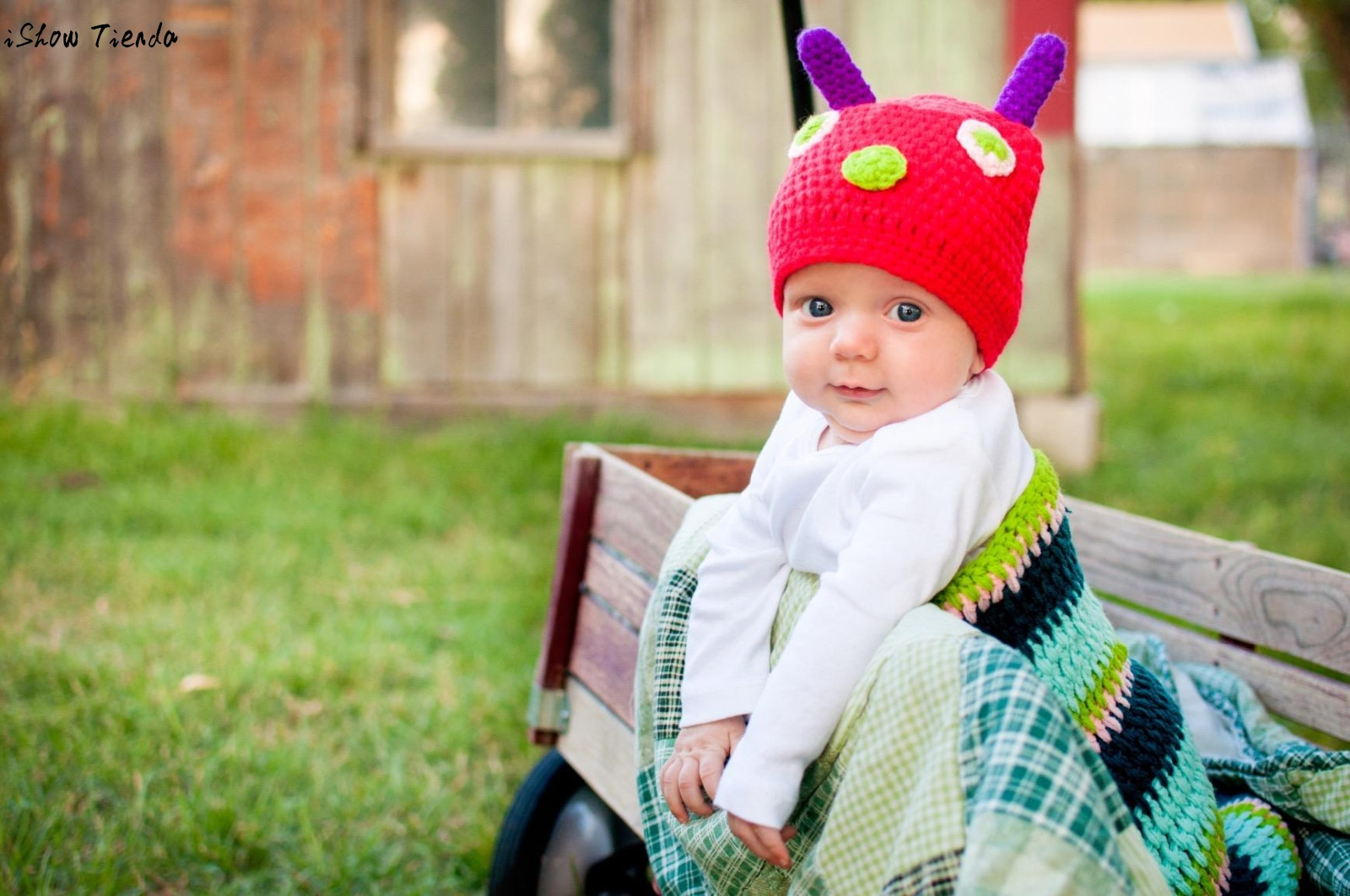 Infant Baby Zubehör Niedliche Raupe Muster Newborn Handgemachte ...