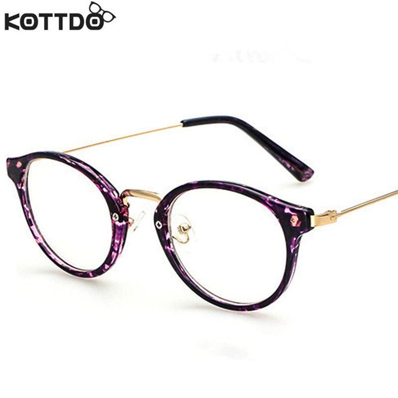 Glasses Frame Fashion 2016 : 2016 New Korean Fashion Eyeglasses Metal Frame Women ...