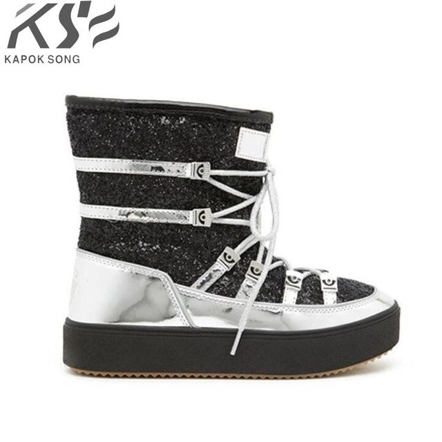 branded model boots luxury designer leather and wool thick  warm boot women shoes genuine quality fashional warm winter g boots