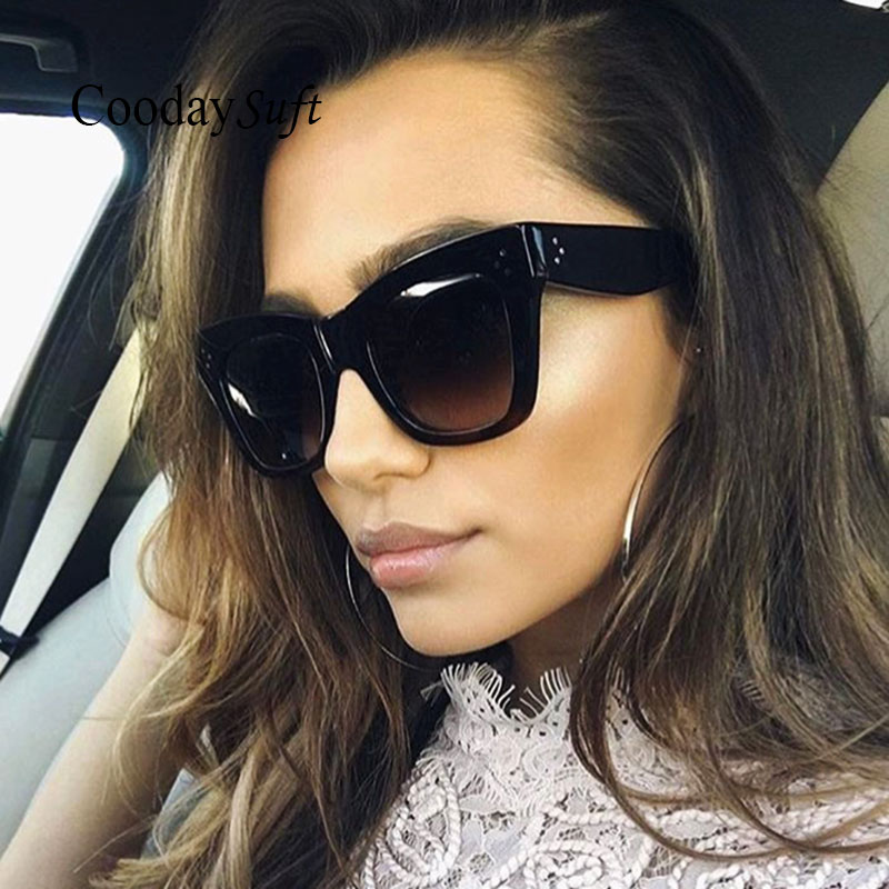 Coodaysuft New Square Brand Designer famous Kim Kardashian Sunglasses Popular Lady Women Men Sun Glasses Female 2017 Hot Sale