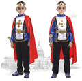 FREE SHIPPING 1Sets Halloween Costume Party Cosplay Clothes Kids Boys Halloween clothing Boys 2 pcs clothing sets