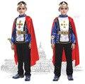FRETE GRÁTIS 1 Sets Partido Do Traje de Halloween Cosplay Roupa Dos Miúdos Meninos roupas Meninos 2 pcs conjuntos de roupas do Dia Das Bruxas