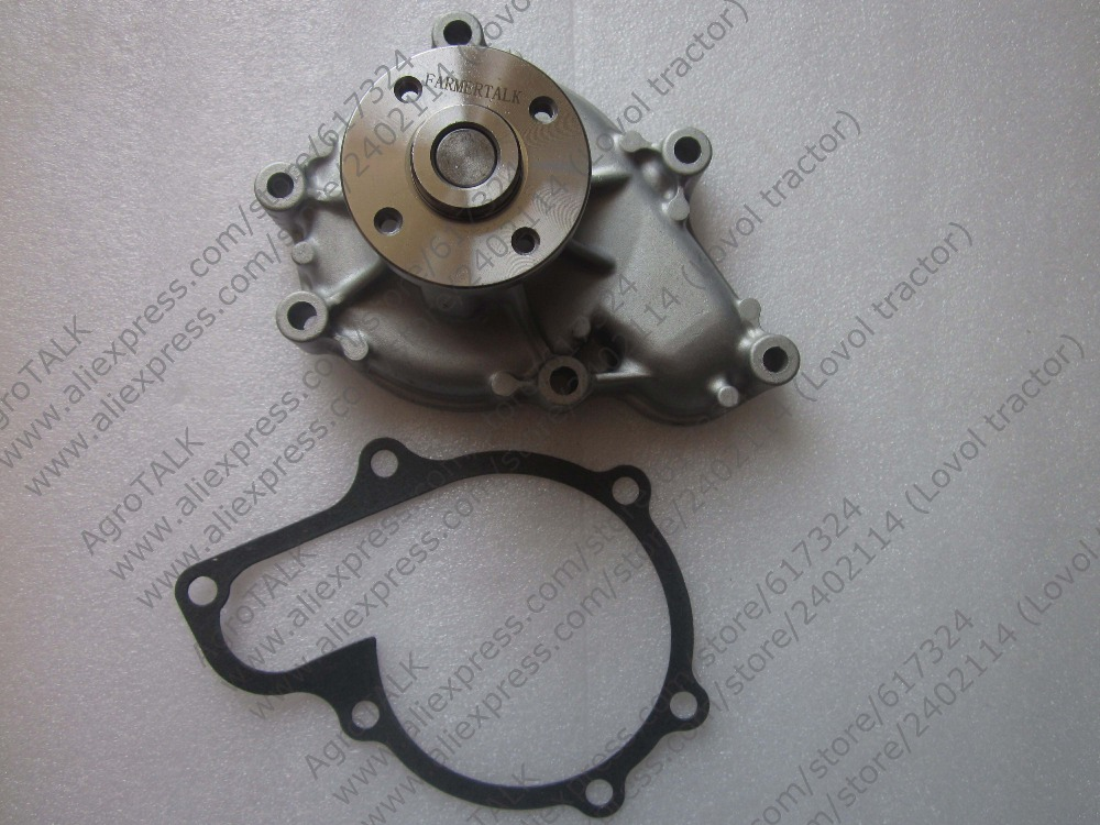 Kubota water pump with gasket, the OEM number:1J700-73030 yanmar parts the water pump thermostat type with reference 4tne88