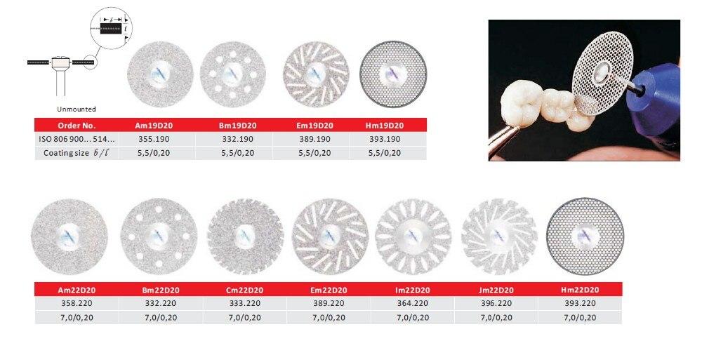 Dental Labor zahnmedizin Drehwerkzeug Zubehör trennscheibe Diamant Trennscheibe Disc dremel Schleifwerkzeug dental diamant discs
