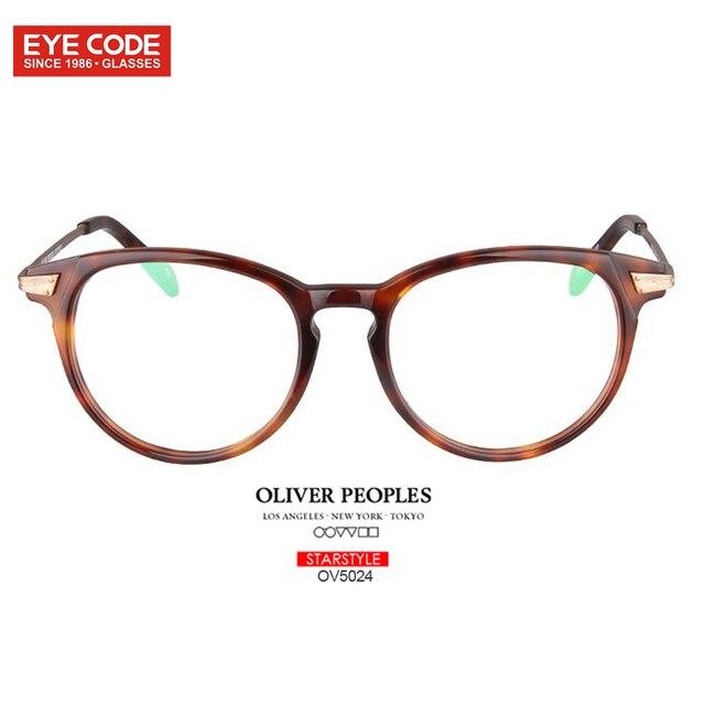 a01592112b Oliver Peoples Vintage Men Women Round Glasses Frame Lighter Acetate Metal  Leg Prescription Optical Lenses eyewear accessories