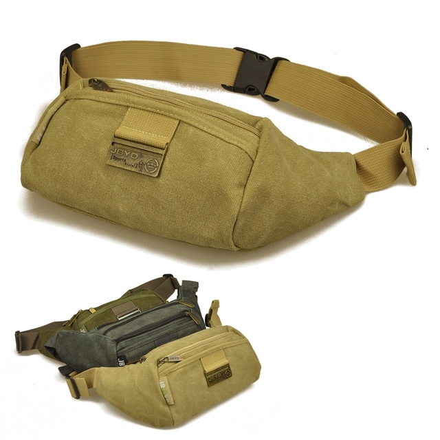 3caf96df28 Vintage canvas outdoor men s waist pouches for travel and sports tactical  money holder for men DY5206 Free shipping