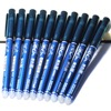 Wholesale 10PCS 0.5mm Rod Erasable Pen Blue / Black Ink Refill Magic Ballpoint Pen Office Supplies Student Exam Spare, Unisex