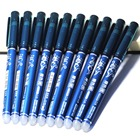 Wholesale 10PCS 0.5mm Rod Erasable Pen Blue / Black Ink Refill Magic Ballpoint Pen Office Supplies Student Exam Spare, Unisex