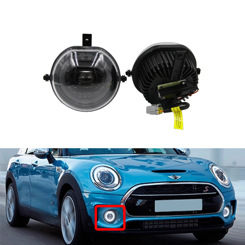 New 30W Full Led DRL Halo Ring / Parking/ Front Driving Fog Light Lamp Assembly Kits For 15 up 3rd Gen Mini Cooper