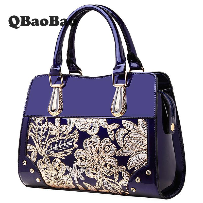 New Leather Handbag Fashion Bolsa Feminina 2018 Women Bag Patent Brand Designer Handbags High Quality Women Messenger Bags miwind 2017 new women handbag pu leather female bags fashion shoulder bag high quality 6 piece set designer brand bolsa feminina